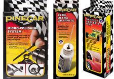PineCar Micro-Polishing System, XLR8 Ultra Graphite, Sanding Sealer and Wax Lot