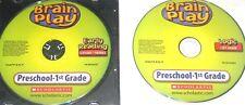 2 PC LOT BRAIN PLAY CD ROM PRESCHOOL-1ST GRADE EARLY READING I SPY JUNIOR! #81A