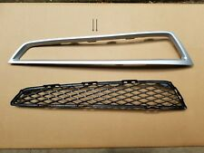 2PC Set 2010-2013 MDX Front Bumper DRIVER Lower Grille & Silver Trim NEW PAIR