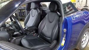 09-15 Mini Cooper Front Seat Set (Pair Left/Right) Carbon Black Vinyl