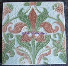 EXCELLENT antique art nouveau PILKINGTONS STRAWBERRY PLANT TILE 253472