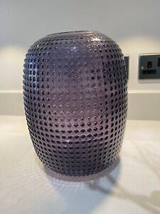 Grey Glass Tall Bobble Vase
