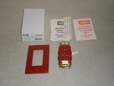 New! Hubbell GFRST83R GFCI 20A, 125V Red Hospital Grade Ground Fault Interrupter