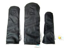 Sunfish Leather golf headcover set - DR, FW, HB Black on Black Murdered Out !