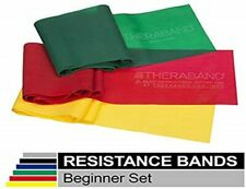 Theraband Beginner Starter Set Latex Free - Yellow, Red, Green Resistance - 4FT