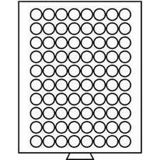 Leuchtturm Münzbox 80 runde Fächer mit 23,5 mm Ø, grau