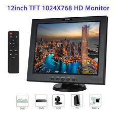 "12"" 1080P Portable Digital TFT LCD Monitor VGA BNC Video Audio HDMI Remote DC12V"