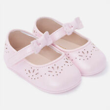 Mayoral Baby Girl Girls Pink Mary Janes Soft With Bow Detail Sz 1 or 3 Box NWT