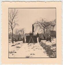 (F29037) Orig. Foto Geschütze z. Heldengedenktag in Norath am 10.3.1940