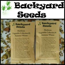 HEIRLOOM Vegetable Seeds Autumn Winter, 15 Varieties #1