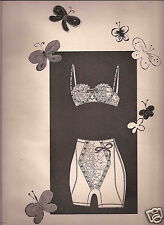 "50's Andy Warhol Illustrated 3-Page ""The Lithe Line"" Lingerie Ad Editorial  1958"