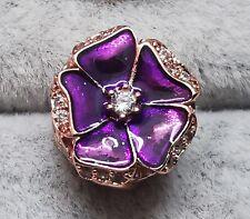 Pandora 789102C01 Rose Purple Flower ALE MET