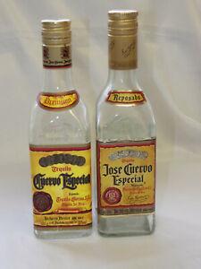 Two Empty Jose Cuervo 70cl Tequila bottles
