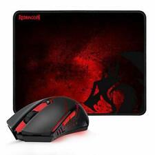 Redragon M601-WL-BA Wireless Gaming Mouse and Mouse Pad Combo Ergonomic MMO 6...