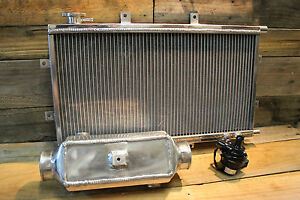 Aluminium Water To Air Intercooler Kit Square Barrel Series