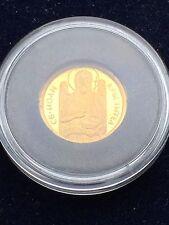 1/20 OZ Bulgaria 20 Leva 2006 monedas de oro San Juan Bautista Muy Raro Con Certificado De Autenticidad