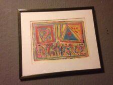 Original signed Charlie Holt pop art painting 1992 fine art framed