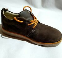 Clarks Brown Leather Suede Brown Shoes Casual Ankle Shoe UK Size 13 G EU 32