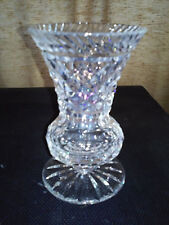 TIPPERARY CRYSTAL IRISH VASE HAND MADE IN IRELAND MOUTH BLOWN HAND CUT SIGNED
