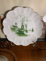 Carlsbad Knox Austria Antique Handpainted Plate Sailboats