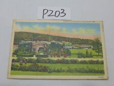 VINTAGE POSTCARD CAMP RITCHIE MARYLAND OFFICER'S HEADQUARTERS LINEN