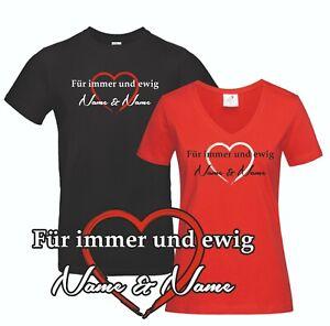 Partnershirt Für immer und ewig Valentinstag Liebe Name Hochzeit Jahrestag Shirt
