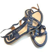 Women's BOC By Born Navy Blue Strappy Adjustable Strap Sandals SZ 11 Med.