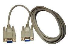 Nuevo 9 Pin Serial / Ega Hembra A Hembra, 2m De Dos Metros De Cable, completamente Tapones moldeados
