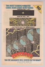 Universe: Crisis on Infinite Earths '80s PRINT AD advertisement DC Comics 1985