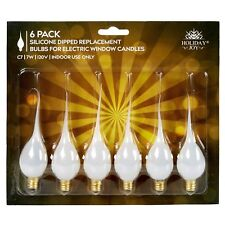Holiday Joy - 6 Silicone Dipped Candelabra Replacement Bulbs - Great for Elec...