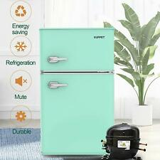 3.2 Cu.Ft Retro Mini Fridge 2-Door Compact Small Refrigerator Home Office Green