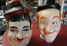 Vintage vinyl Laurel & Hardy Halloween Mask set 1981 Cesar * Rare & Collectible