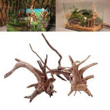 Natural Tree Trunk Driftwood Aquarium Fish Tank Reptile Cylinder Making Roots S