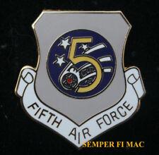 5TH US AIR FORCE PACAF YOKOTA AIR BASE AFB HAT PIN WORLD WAR 2 US ARMY AIR CORPS