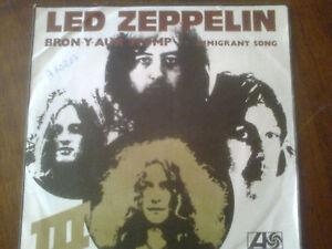 LED  ZEPPELIN      BRON-Y-AUR STOMP........ IMMIGRANT SONG    45 Giri