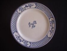 "JOHNSON BROTHERS -8"" PLATE -""THE EXETER"" -ATTRACTIVE BLUE & WHITE PATTERN"
