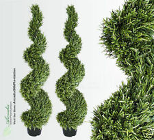 2 Rosemary 5' Artificial Tree Topiary Plant Outdoor