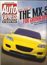 """MAZDA RX8 prova su strada 'SALES BROCHURE """"Auto Express APRILE 2002"""