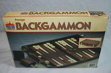 VINTAGE PAVILION PRESTIGE BACKGAMMON GAME IN PADDED TRAVEL CASE W/ BOX NEW