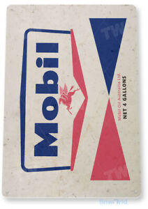Mobil Oil Sign, Gas Station, Garage, Auto Shop, Retro Rustic Tin Sign C818