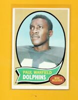 4929  1970 Topps #135 Paul Warfield DOLPHINS CARD