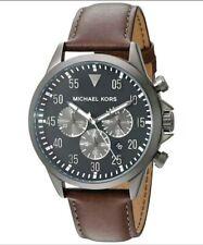 Michael Kors Gage 45 mm Stainless Steel Case Men's Brown Wrist Watch ! MEGA SALE