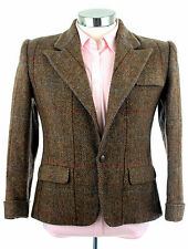 Ralph Lauren Polo Women's Wool Brown Windowpane Riding Blazer Jacket Sz 8