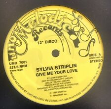 "Sylvia Striplin ""Give Me You're Love"" 12"" (Funk, Disco, Badu, Roy Ayers, Bedford"