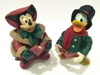 Disney Christmas Vintage Mickey Fabriche Carollers Donald Duck Minnie Mouse