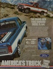 Ford Ranger Truck Diesel and 4x4 America's Truck 1982 Vintage Print Ad