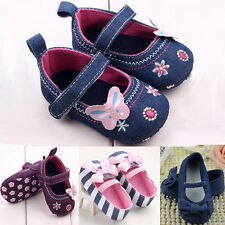 Toddler Newborn Baby Girl Soft Crib Shoes Anti slip Pram Prewalker Sneakers T8 f
