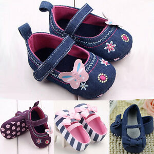 Toddler Newborn Baby Girl Soft Crib Shoes Anti slip Pram Prewalker Sneakers AU a