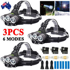 3PCS 100000LM 5X XM-L T6 LED HEADLAMP HEAD LIGHT TORCH FLASHLIGHT CAMPING LAMP