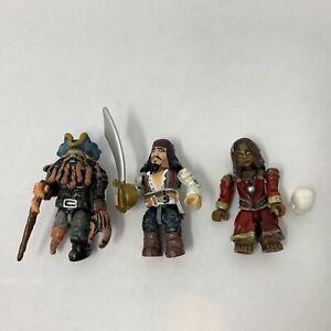 Davy Jones Jack Sparrow Tia Dalma Lot 3 Pirates Caribbean Mega Bloks Figures